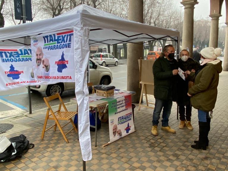 Gazebo informativo Nizza Monferrato