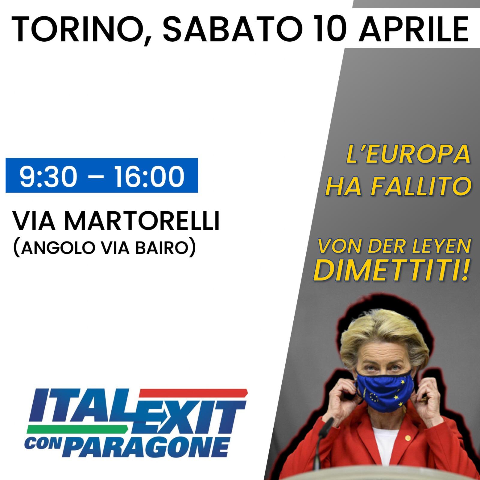 Banchetto informativo Italexit